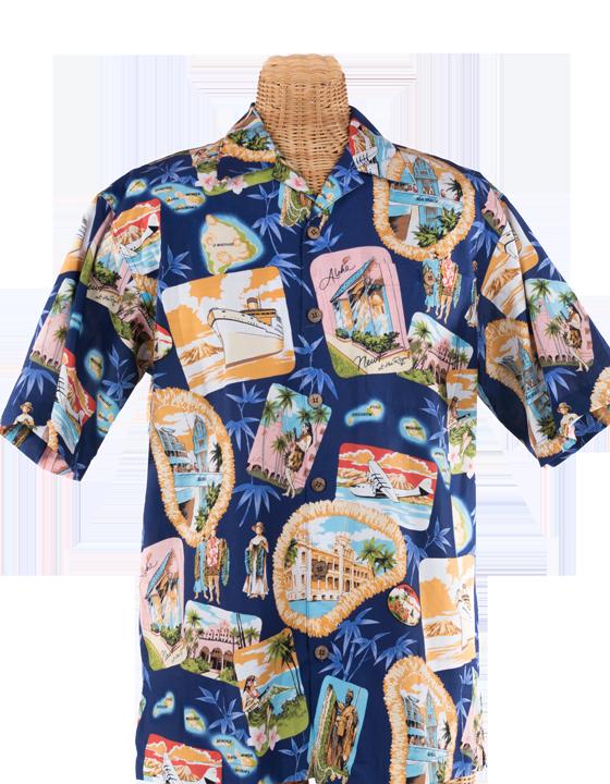 34af7e91 Newt's retro-print aloha shirt with the Nostalgia design