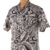 Newt's retro-print aloha shirt in the Na Honu design