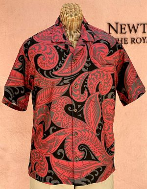 Lava Flow Print Red