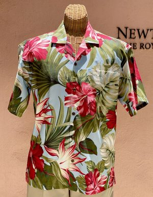 Mid-Century Hawaii Print Blue