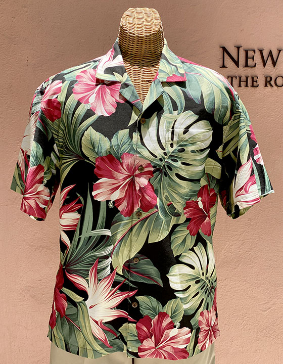 Mid-Century Hawaii Print Black